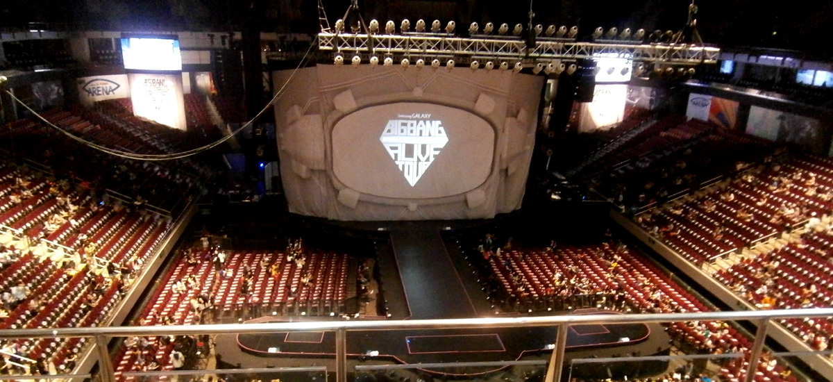 The stage - Big Bang Alive Tour 2012 in Manila