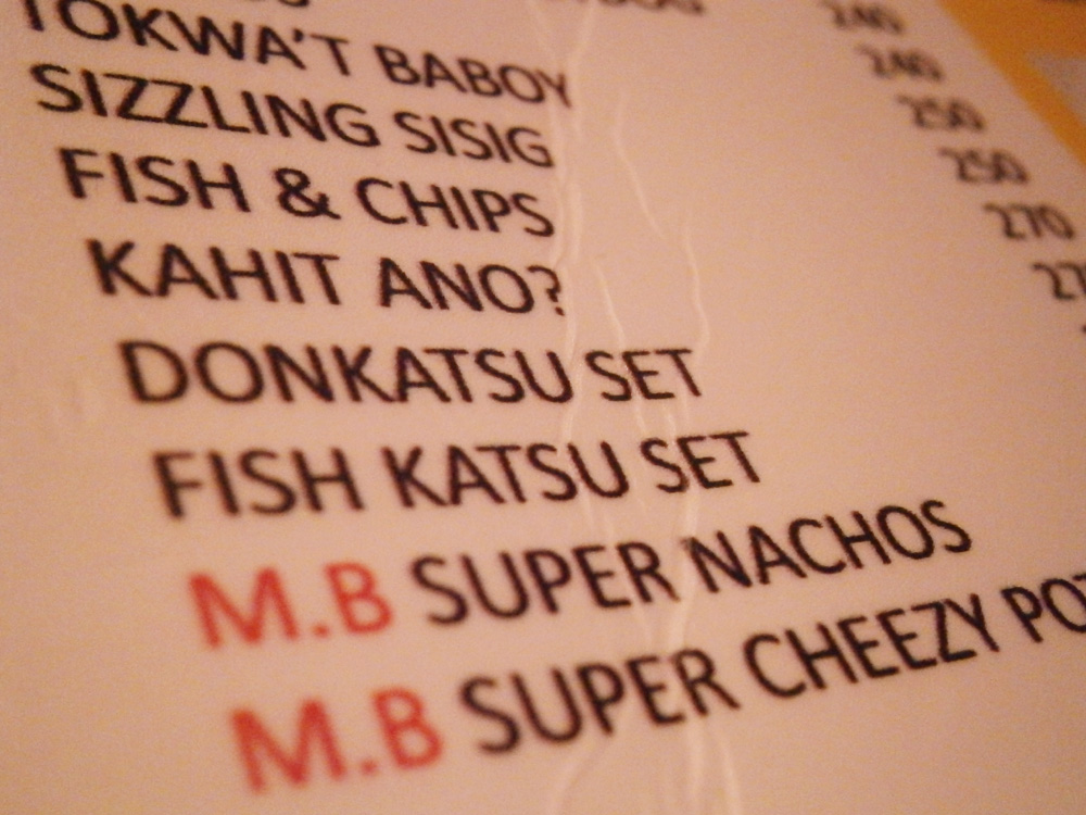 Their 'Kahit ano' on the menu - Music Bank, Diosdado Macapagal Avenue