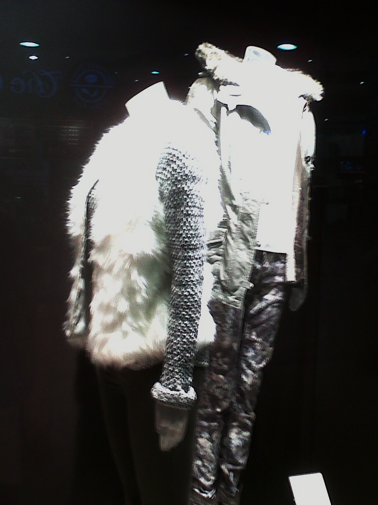 Winter display window in the mall