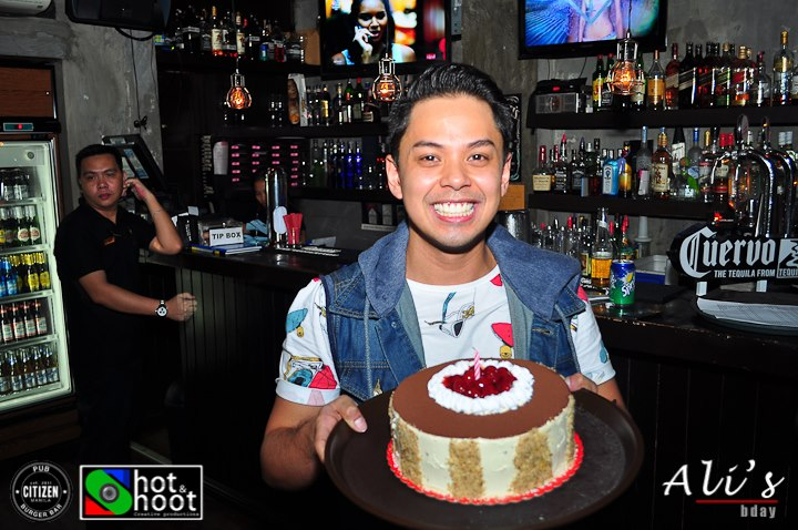 Birthday boy with his cake - Citizen Pub and Burger bar