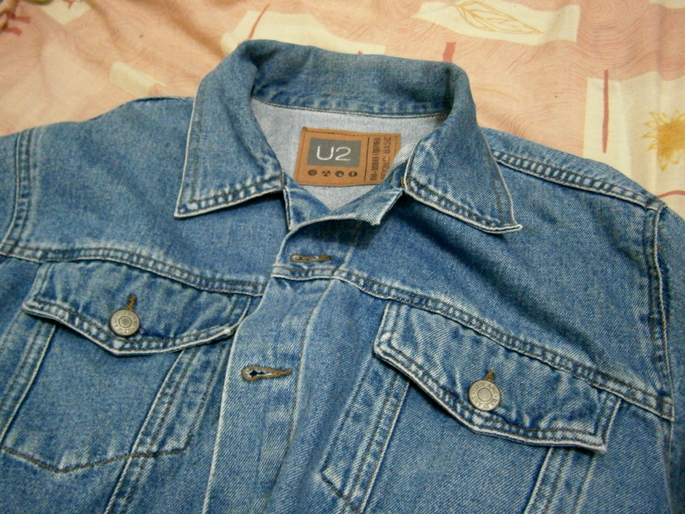 Denim jacket, ready to be ravaged - Manila, Philippines
