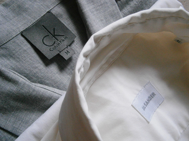 Gray CK Calvin Klein and Jil Sander dress shirts - Manila, Philippines
