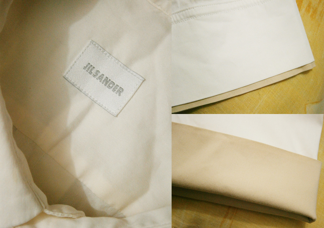Jil Sander Button-down polo with contrasting cuff sleeves - details - Manila, Philippines