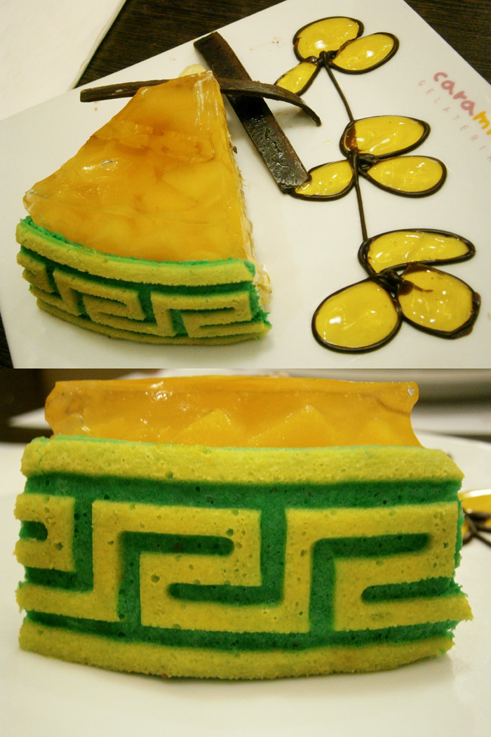 Mango Felicity cake from Amici, Ayala Triangle, Makati City