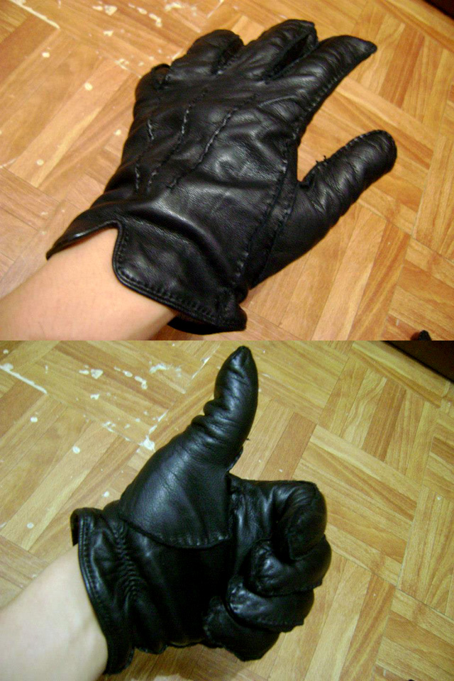 Black Ermenegildo Zegna leather gloves