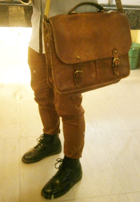 Mulberry wexford messenger briefcase and black 8-hole Doc Martens - Manila, Philippines