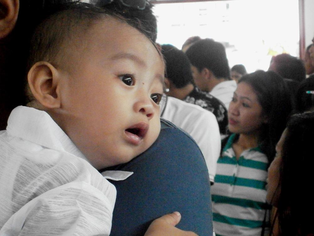Isn't he precious? My sixth godchild, Aleph