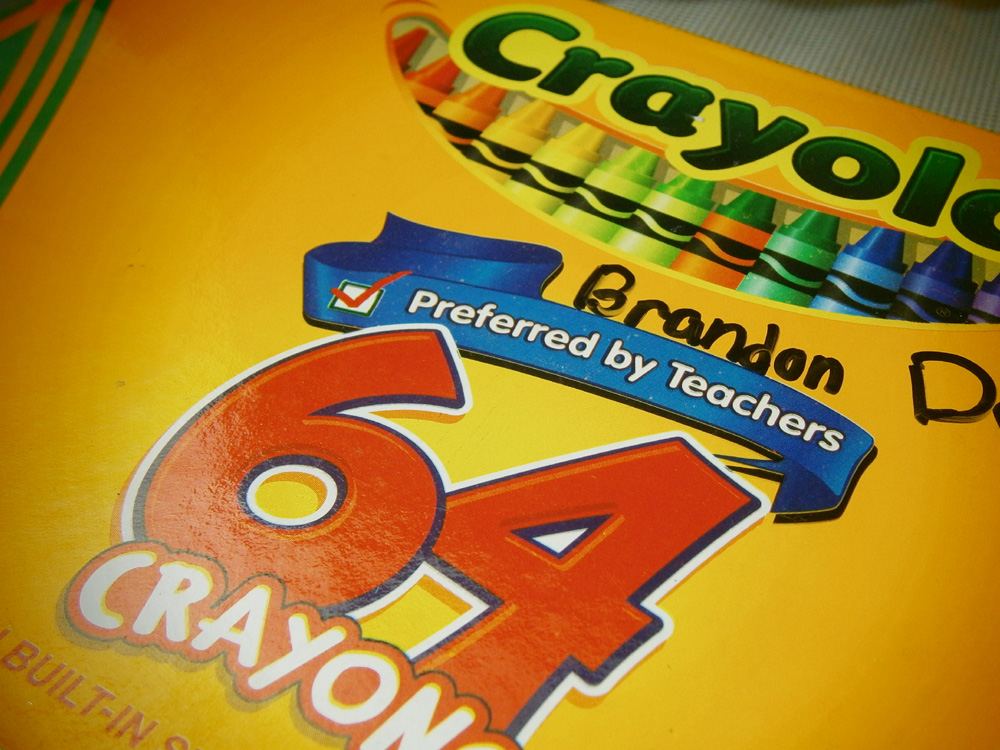 The box - Crayola 64 Crayons