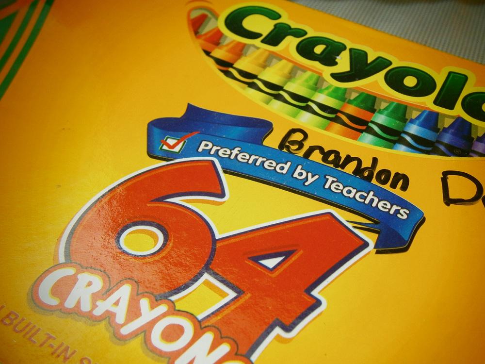 The box - Crayola 64 Crayons