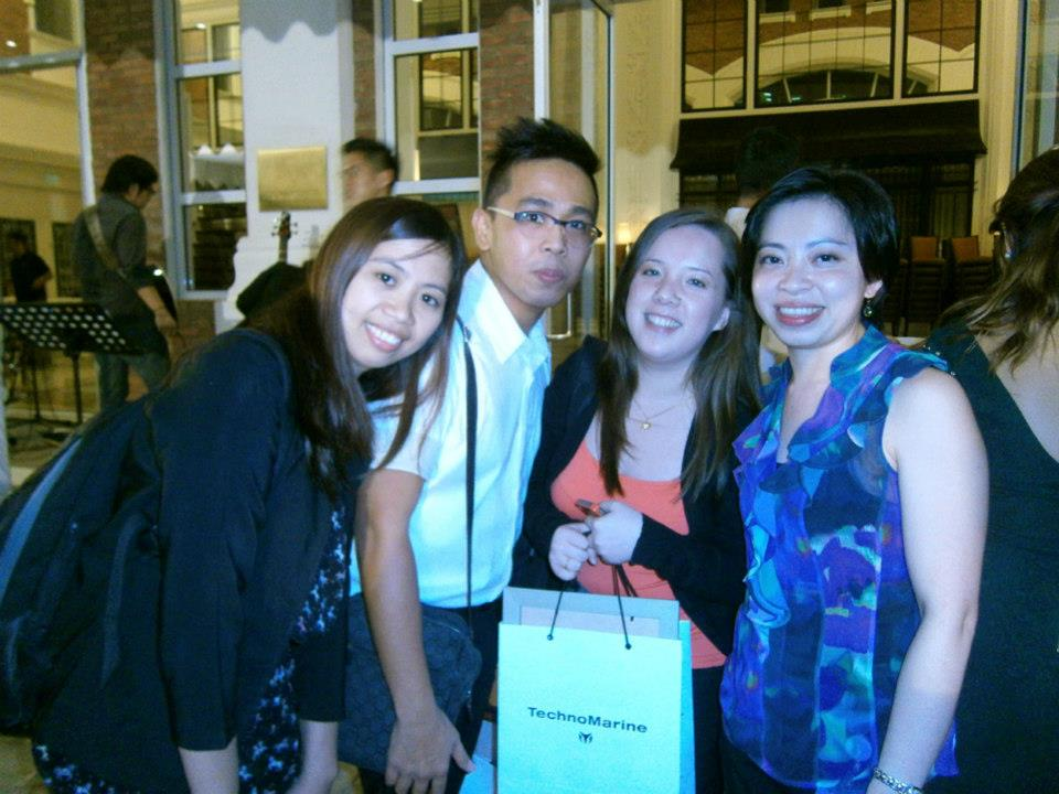 With our former manager, Ms. Fen