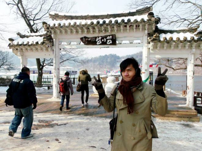About to leave Nami Island --- Winter in Seoul December 2012 - Day 3: Nami Island