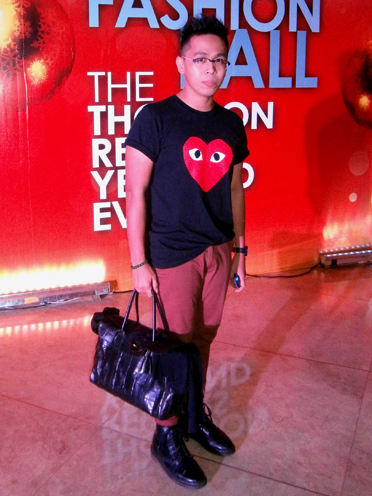 "Black 'Red Heart' shirt from Play by Comme des Garcons, brick pants, black 8-hole Doc Martens, black Mulberry Bayswater in Congo leather - ""mulberry bag philippines"""