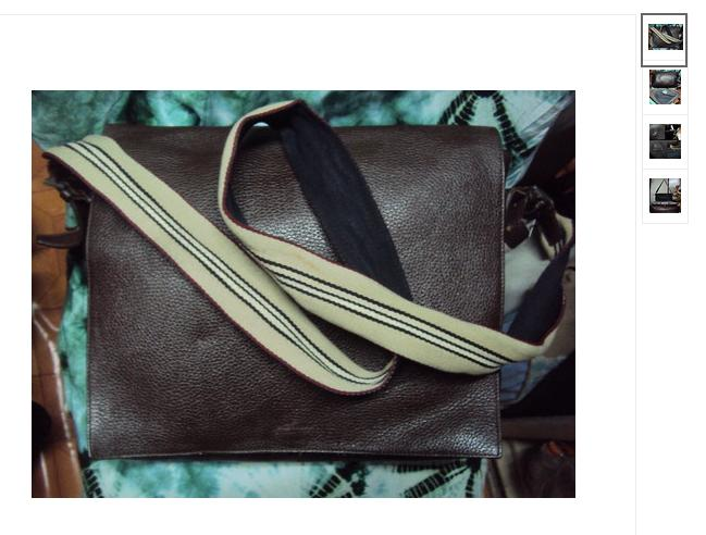 Burberry London Leather Messenger Bag