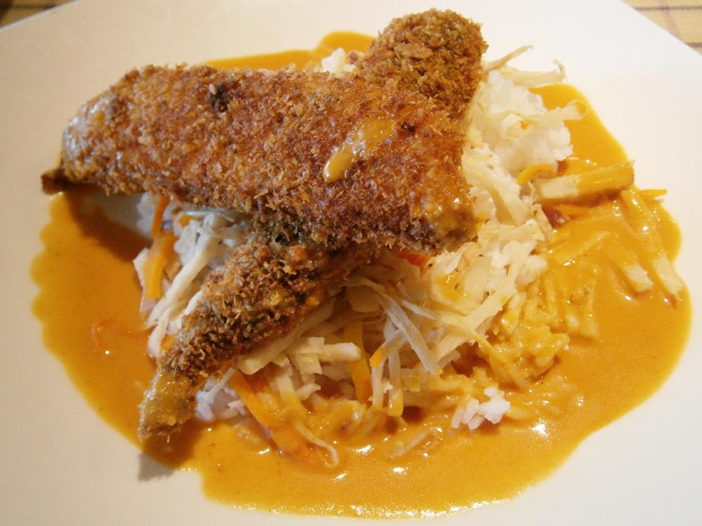 Crispy Tilapia Cocoloco with Tomato Curry Sauce - Chef Laudico's Bistro Filipino