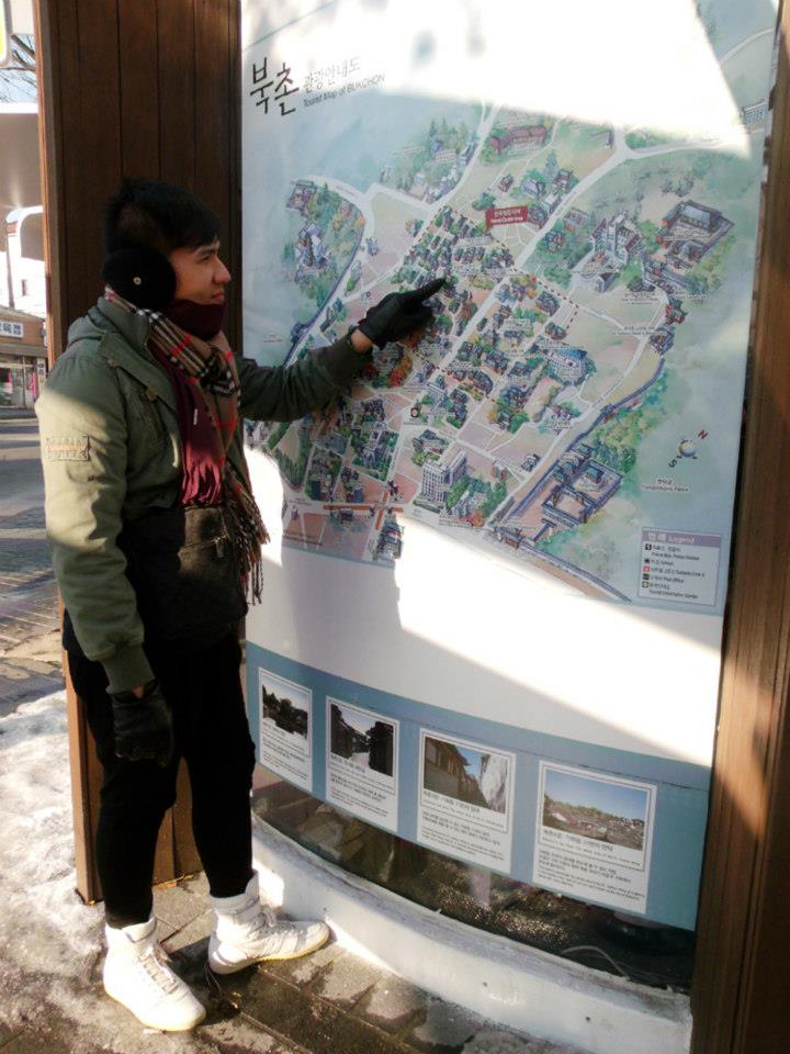 Figuring out the map going to Bukchon Hanok Village