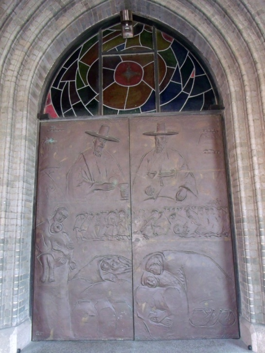 Front door of Myeongdong Cathedral