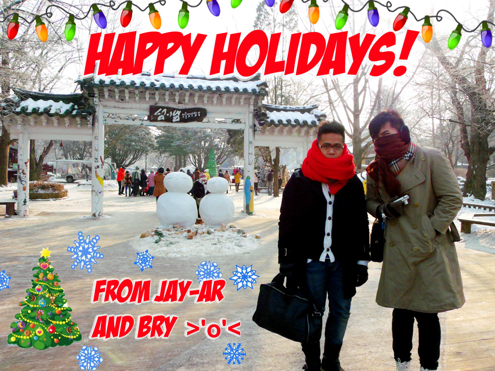 Happy Holidays Jay Ar and Bry