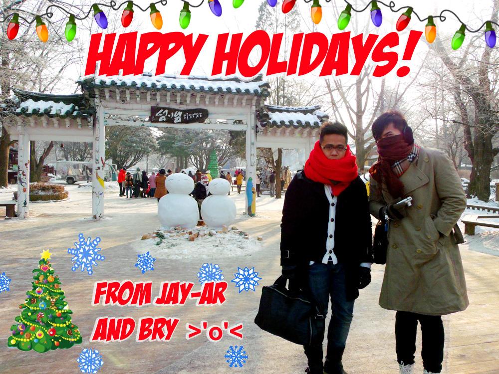 Happy Holidays Jay Ar and Bry