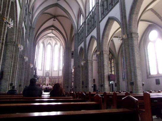Inside Myeongdong Cathedral