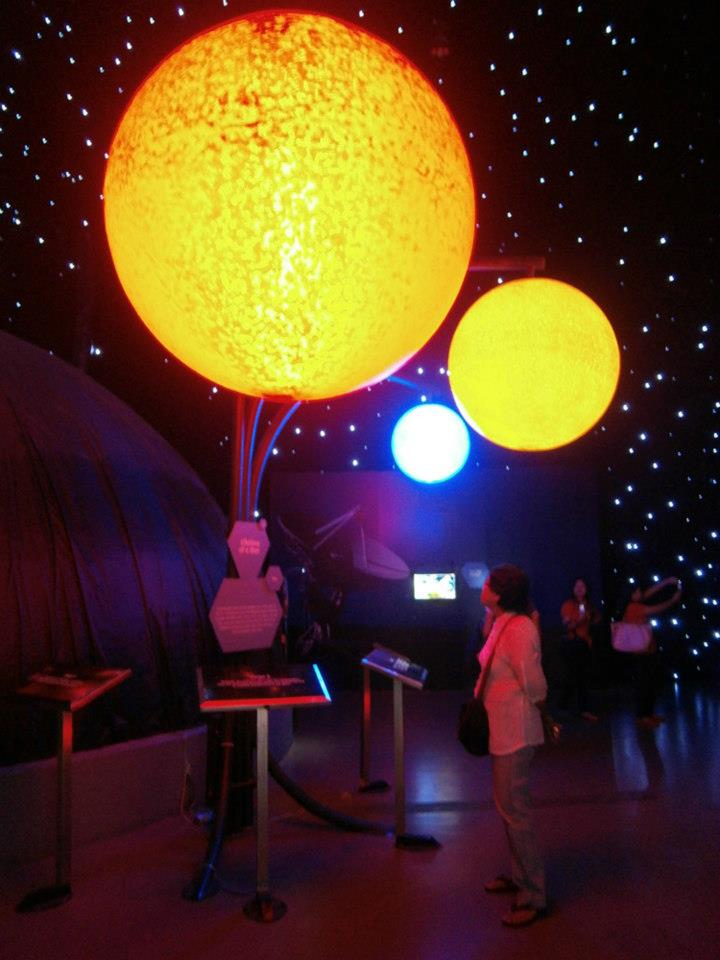Mama below the life cycle of a star exhibit - The Mind Museum at Taguig