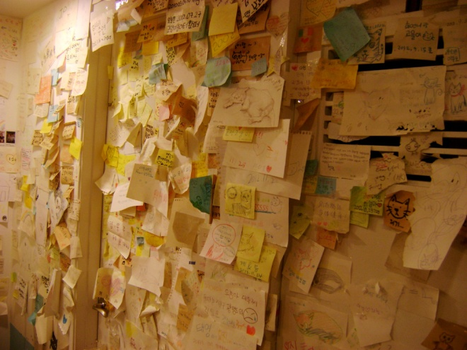 Messages from the visitors of Cat Café Myeongdong, Seoul