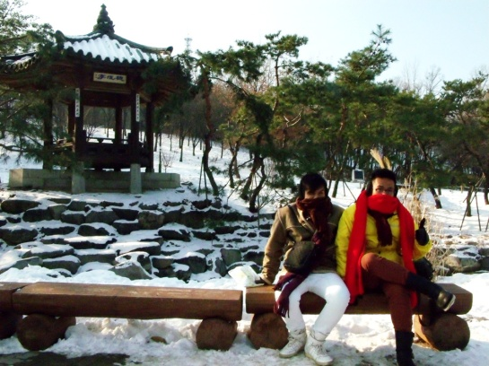 Mon and I in this Korean winter wonderland - Namsangol Hanok Village