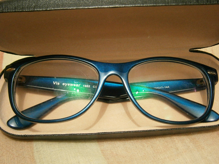 My new eyeglasses fresh from its case