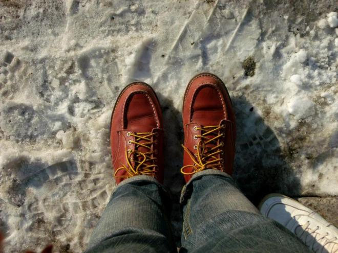 My Red Wing boots perfectly protected my feet from the Seoul winter