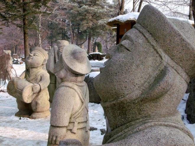 Sculptures on Nami Island --- Winter in Seoul December 2012 - Day 3: Nami Island