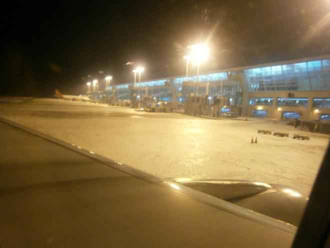Snow greeting us as we arrived in Incheon International Airport on December 11, 2012