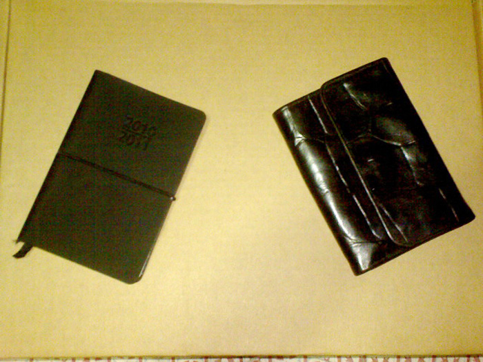 When I first converted this congo leather Mulberry wallet into a planner