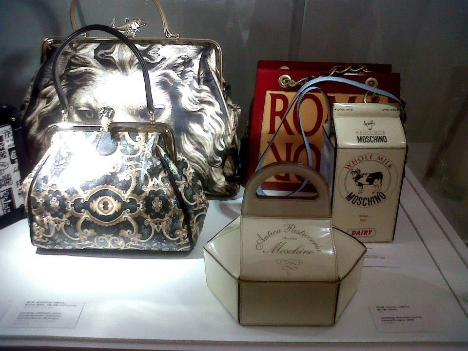 An assortment of unconventional bags from Moschino - Simone Handbag Museum, Gangnam-gu, Seoul, South Korea