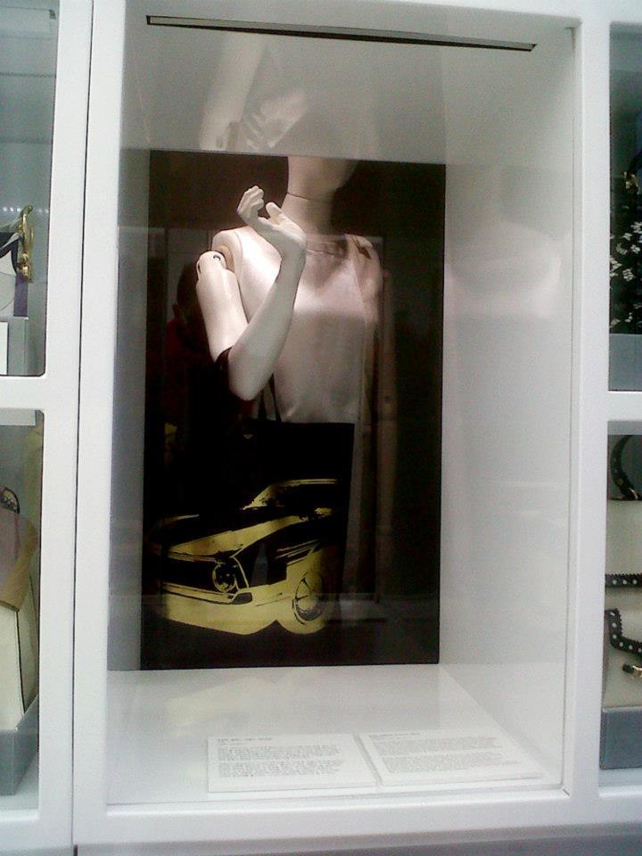 Céline Vertical Cabas Tote with gold mustang print detail (2012) - Simone Handbag Museum, Gangnam-gu, Seoul, South Korea