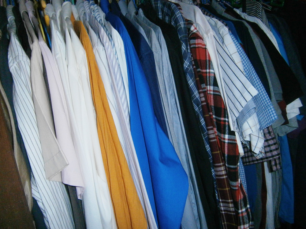 Clothes hanging nicely inside my closet