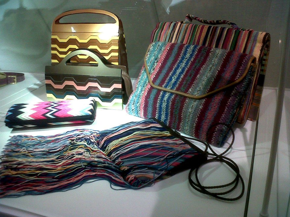 Colorful Missoni bags in leather and knit materials - Simone Handbag Museum, Gangnam-gu, Seoul, South Korea