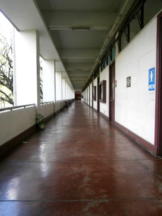 Deserted AS corridor