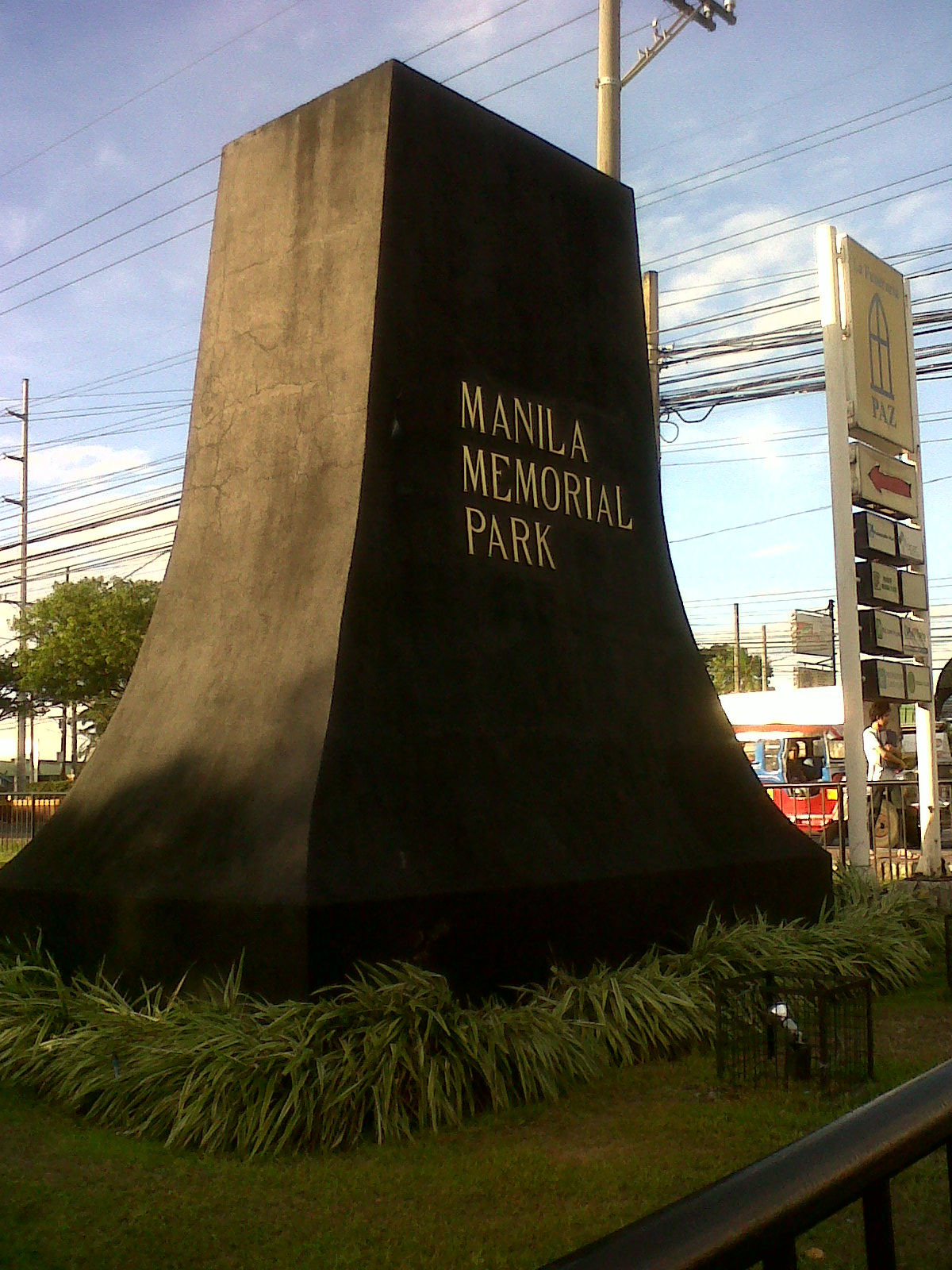 Manila Memorial Park in Sucat, Parañaque