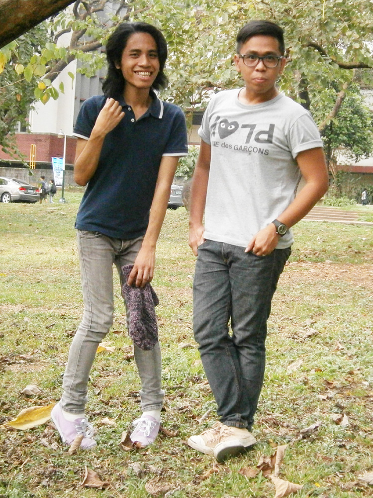 My friend Ikle and I  - Acad Oval, UP Diliman