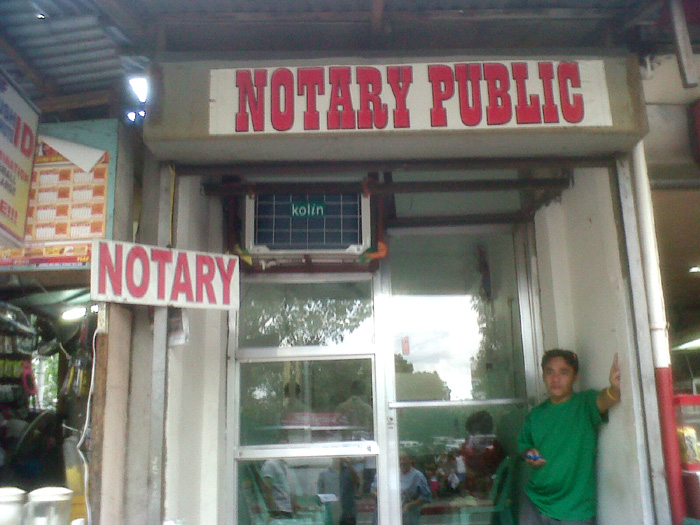 Notary Public behind Makati Medical Center