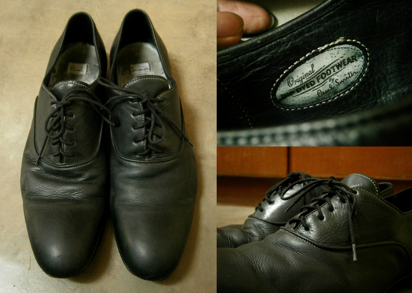Black Paul Smith Dip Dyed Cervantes Oxford Shoes and details - Original Dip Dyed Footwear