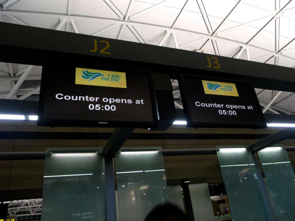 Cebu Pacific's counters open at 5 AM - Incheon International Airport
