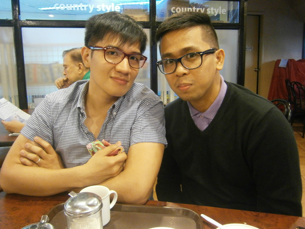 Coffee with Ikle before he returns to China