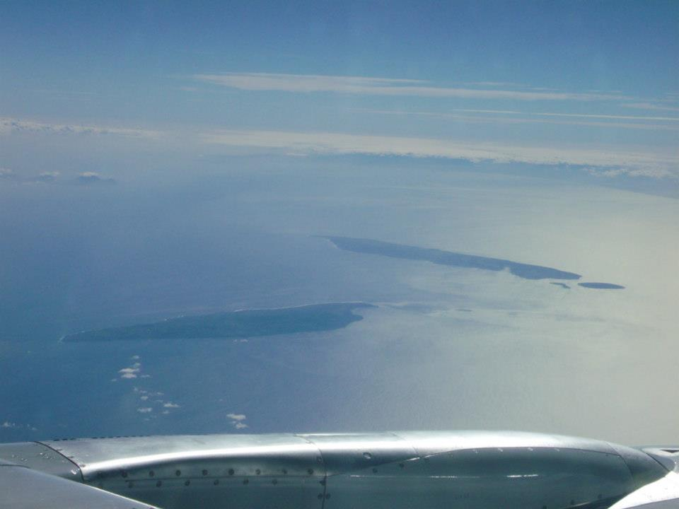 Dalupiri Island and Fuga Island in Batanes viewed from the airplane