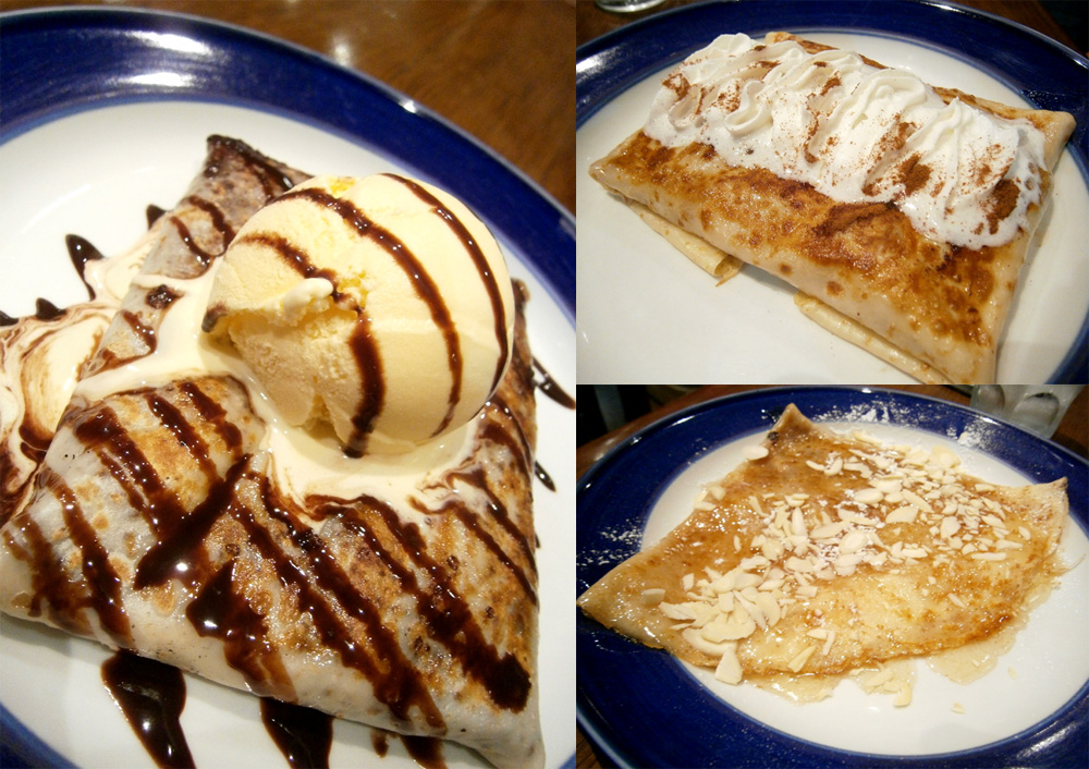 Eden, La Pinay and Almond and Honey crepes from Café Breton - Trinoma