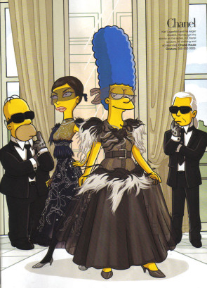 In the House of Chanel - Homer, Linda, Marge and Kaiser Karl for Harper's Bazaar 2007