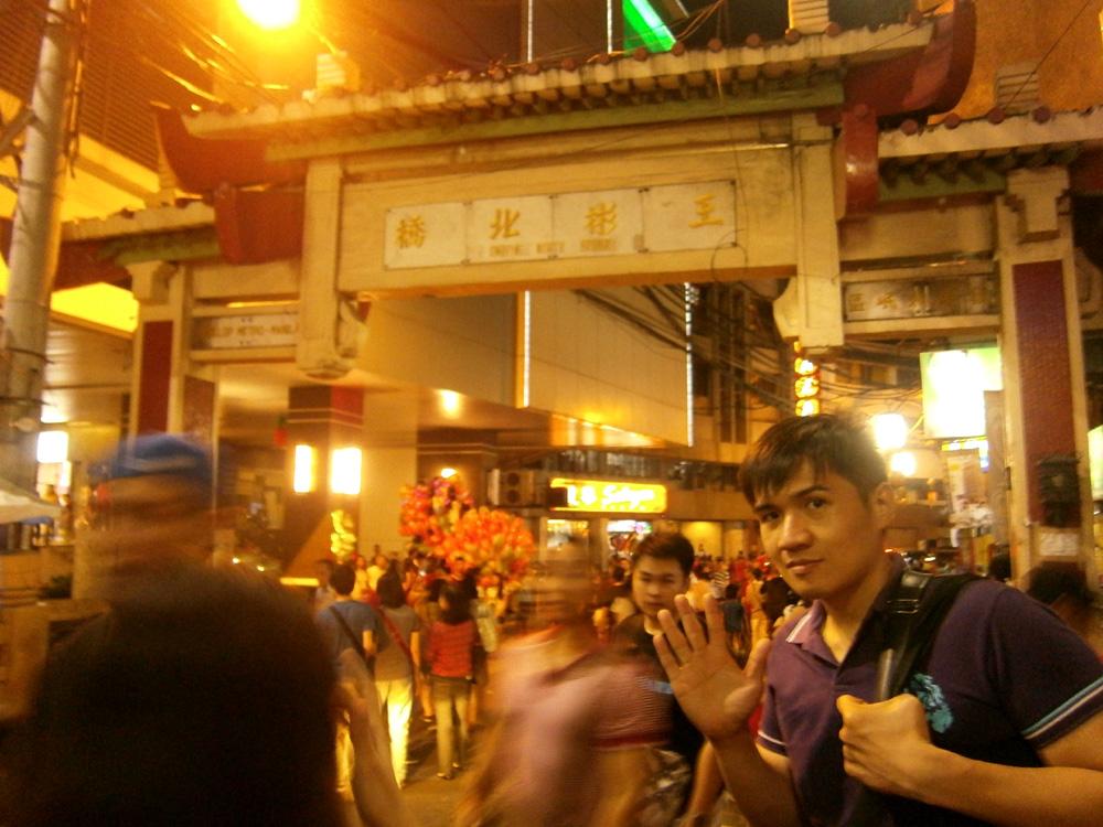 Leaving the Ongpin North Gate at night - Binondo, Chinese New Year 2013