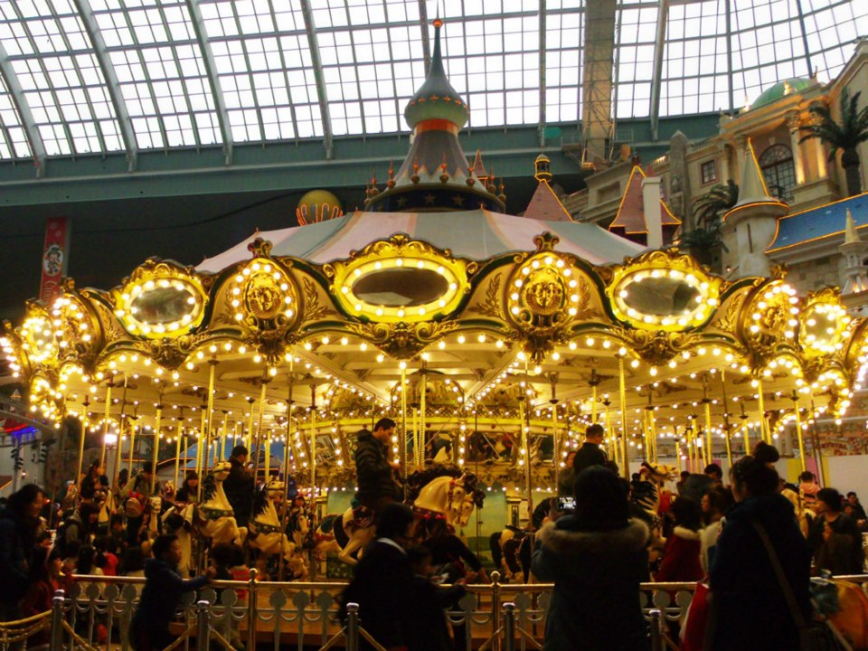 Lovely carousel - Lotte World, Seoul, South Korea