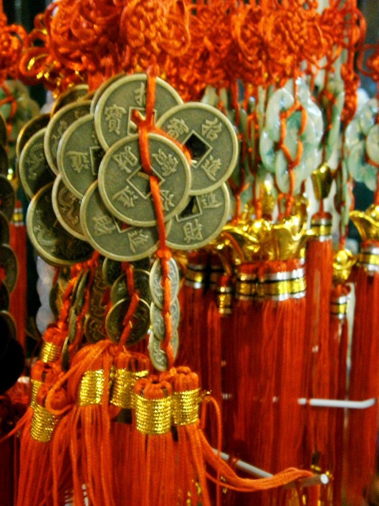 Lucky coins decoration  -  Binondo, Chinese New Year 2013