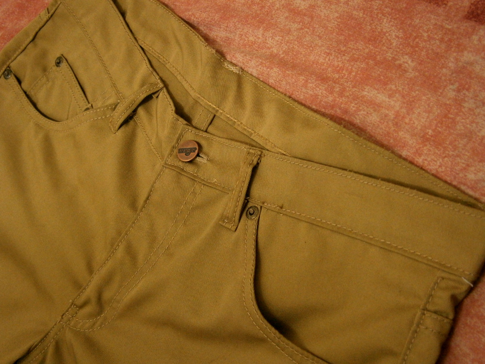 My new pair of tailor-made skinny khaki pants