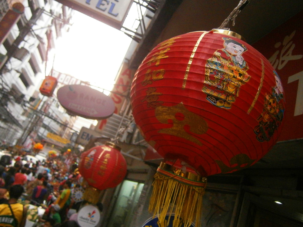Red Chinese lantern  - Binondo, Chinese New Year 2013